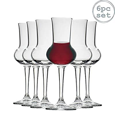 Bormioli Rocco Restaurant Grappa Liqueur Glass with Stem - 80ml - Pack of 6