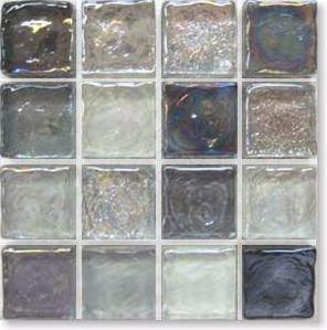 モザイクタイル ガラス ガラスモザイク シート 裏ネット貼り ノスタルジア シルバーグレー 20mm角 1シート