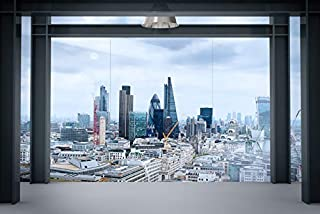 3D Window Building 144 Wall Paper Print Decal Deco Indoor Wall Mural Self-adhesive Wallpaper AJ WALLPAPER AU Zoe (416x254c...