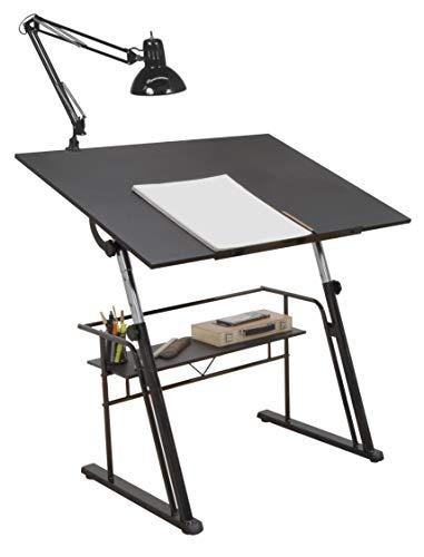 STUDIO DESIGNS Zenith Craft Desk Drafting Table, Top Adjustable Drafting Table Craft Table Drawing Desk Hobby Table Writing Desk Studio Desk, Black, 13340