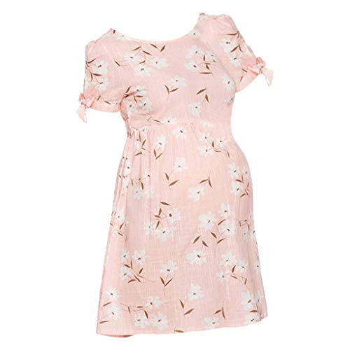 Vectry Ropa de Mujer Embarazada Vestidos Premama para Boda Cortos Vestido Midi Fiesta Vestidos de Fiesta para Bodas Cortos Vestidos Mujer Verano 2019 Casual Vestido Rosa