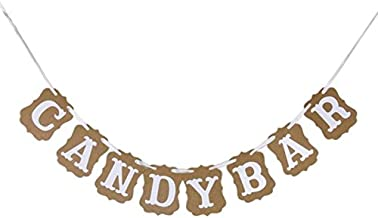 candy table bunting