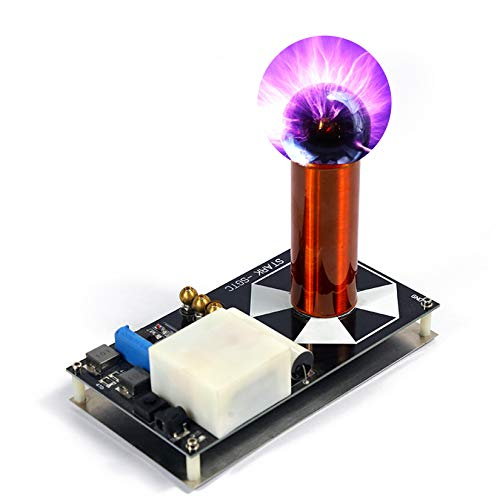 Pevfeciy Tesla Coil Blitzgenerator,Künstliche Blitz Wissenschaft Und Bildung Werkzeug DIY Experiment,S