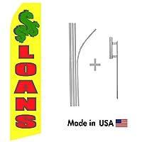Loans Econo Flag | 16ft Aluminum Advertising Swooper Flag Kit with Hardware [並行輸入品]