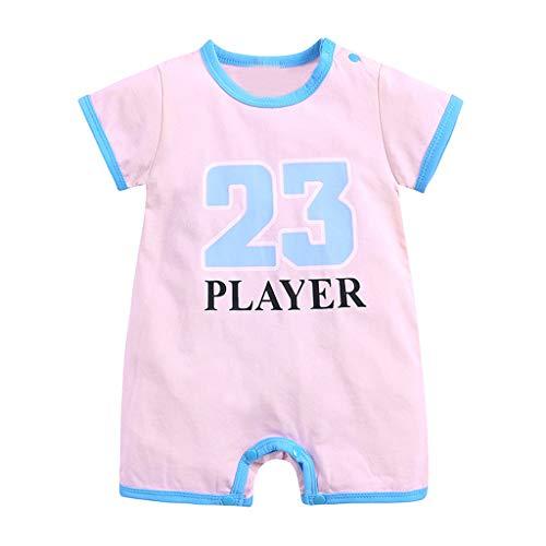 Baby Neugeboren Babykleidung Strampler Motive - Bedruckte Kurzarm-Sporthose Player- Baby Body Kurzarm Jungen Mädchen Allence