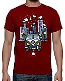 latostadora - Camiseta Vintage Life para Hombre Rojo L