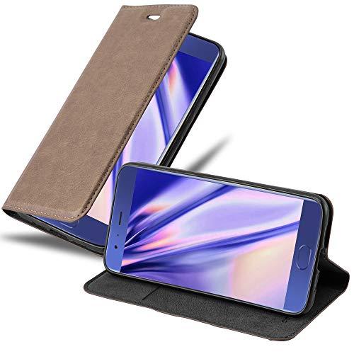 Cadorabo Funda Libro para Xiaomi Mi 6 en MARRÓN CAFÉ - Cubierta Proteccíon con Cierre Magnético, Tarjetero y Función de Suporte - Etui Case Cover Carcasa
