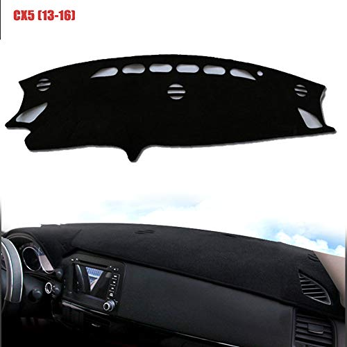 PGONE Custom Fit Dashboard Black Center Console Cover Dash Mat Protector Sunshield Cover Pad Carpet for 2013 2014 2015 2016 Mazda CX5 (Black(13-16))