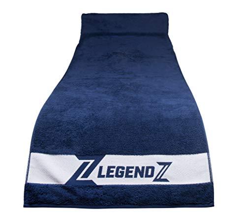 LegendZ Fitness Handtuch – Sporthandtuch Set mit Reißverschluss Tasche | 140x50cm | Antibakterielle Baumwolle | Fitnessstudio Gym Training Schwimmen Sport | 4 Farben Handtücher aus Baumwolle blau XXL