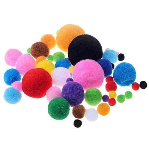 190 pompones de manualidades para muñecas, suministros de manualidades y hobby, varios colores y tamaños