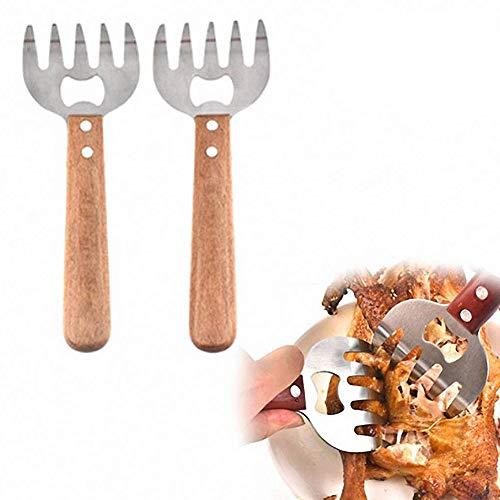 Sarplle Meat Claws 1 Paar Edelstahl Fleisch Krallen Multifunktional Gabeln Mit Handles für Pulled Pork Fleischgabeln im Bärenkrallen, Flasche öffnen