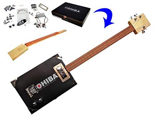 'The Chicago' Premium Electric 3-String Cigar Box Guitar Kit