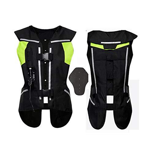 YXYECEIPENO Gilet Airbag Gilet De Cylindre De Moto Déclenchez L'airbag en 0,3 Seconde, avec Protection Dorsale Protéger Le Dos, Le Cou, La Poitrine Convient pour L'équitation en Extérieur