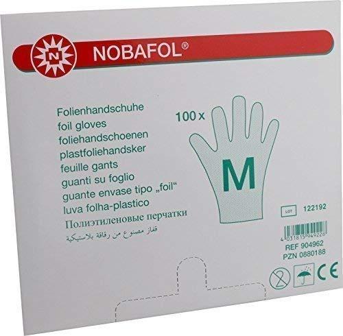 100 Stück Folienhandschuhe, Nobafol Medium