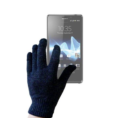 DURAGADGET paire de gants capacitifs conducteurs excellente qualité à base de soie conductrice taille S (petit) pour téléphone portable / Smartphone Sony Xperia TL Android 4.1 (James Bond)- Garantie 5 ans