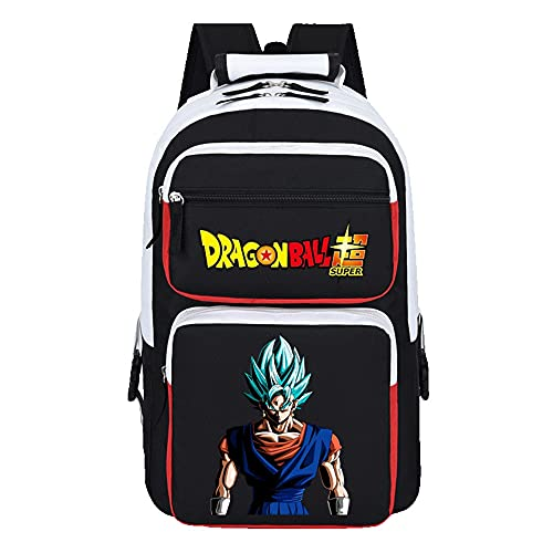 WOONN Mochila Escolar Bag Mochilas Hombre Mochila para Niños Adolescentes Mochila para Regalo Mochila Mujer Mochila Portatil Viaje Negocios Anime Backpack Dragon Ball Goku