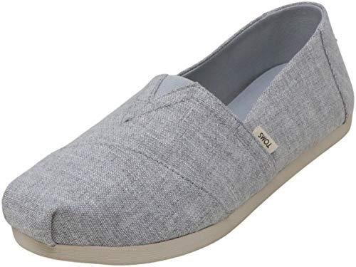 TOMS Women's Espadrille Loafer Flat, Grey, 6.5