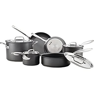 Breville 10 Piece Thermal Pro Hard-Anodized Nonstick Cookware Set, Large, Gray