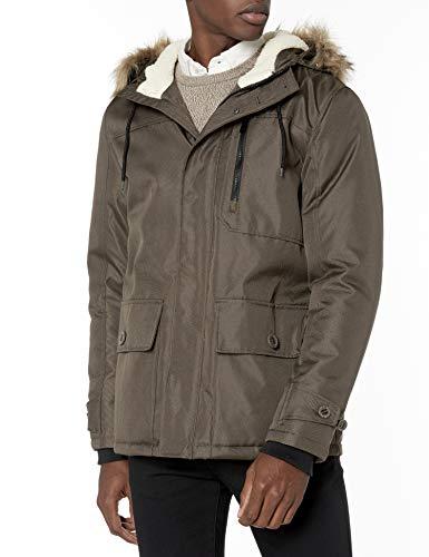 Perry Ellis - Men's Outerwear Herren Snorkel Parka Jacket Jacke, Taupe, Mittel