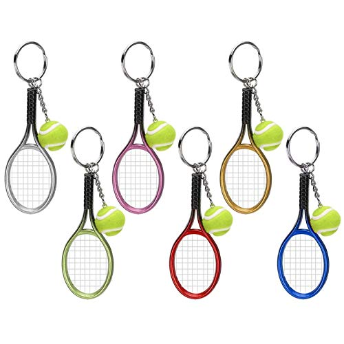 needlid Bolso Colgante, Llavero De Plástico Mini Raqueta De Tenis, Compacto Y Ligero, Regalo De Amigos para Equipaje para Bolso