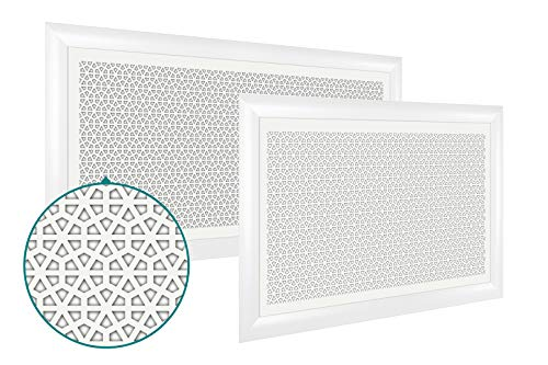 Radiatorbekleding | verwarming | afdekking | ventilatierooster | keuze | Crystal modern M - 600 x 900mm wit