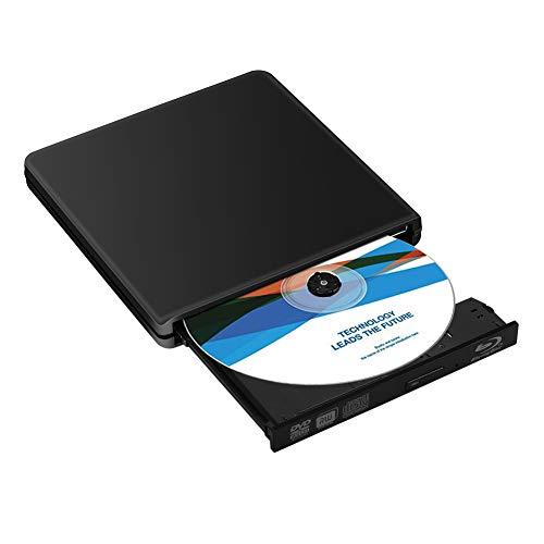 Masterizzatore Esterno Blu Ray 3D, Lettore DVD Blu Ray Esterno 4K Portatile USB 3.0 BD CD DVD RW Rom Player Burner per Laptop/Desktop, Mac/OS/XP/Win7/Win8
