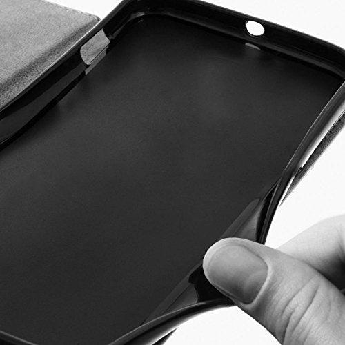 MOKASY Mate 7 Hülle kompatibel mit Huawei Ascend ☑️ Mate 7 ☑️ unzerbrechliche Schutzhülle Handyhülle aus Silikon mit Magnetverschluss und Fach Lila - 2