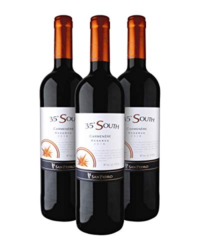 35º South Reserva Carmenère Vino Tinto - Central Valley, Chile - Pack 3 Bot. 75 cl