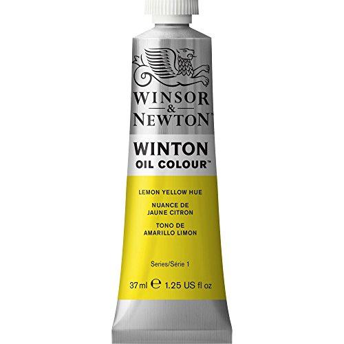 Winsor & Newton Winton Oil Color Paint, 37-ml Tube, Lemon Yellow Hue