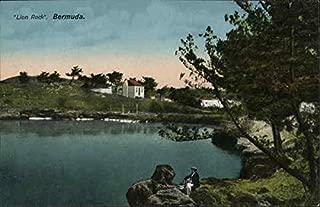Lion Rock. Bermuda. Bermuda Original Vintage Postcard