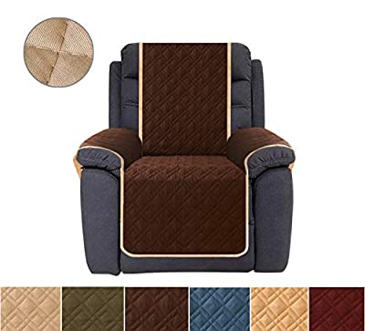 Ameritex Recliner Cover, Reversible Quilted Furniture Protector, Ideal Recliner Slipcovers for Pets & Children, Water Resistant, Will Keep Your Couch Stain, Dirt & Scratches-Free