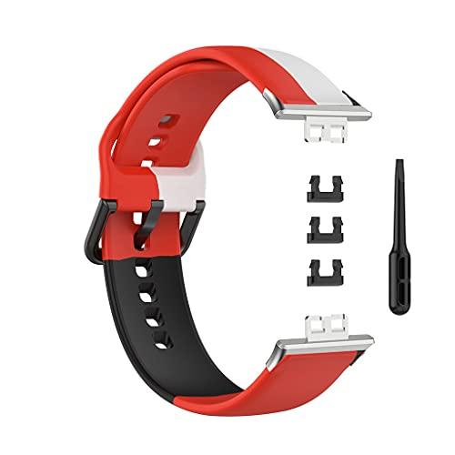 Yuwe Correa de Cuero de liberación rápida Reloj Huawei, Compatible con Silicona de Tres Colores