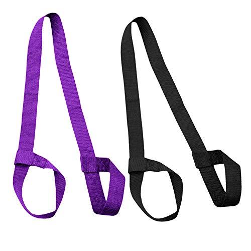 Elion Yogamatte Tragegurt, Yoga Strap, 2 Stück 150 cm x 3,8 cm Verstellbare Haltbare Schulter Yoga Matten Schlaufe,Training,Outdoor und Sportmatten (Ohne Matte)