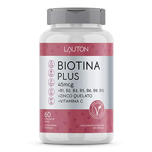 Biotina Plus - 60 Cápsulas - Lauton Nutrition, Lauton Nutrition