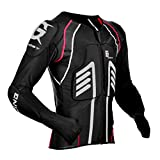 Sharplace Chaqueta para Hombres Armadura Protección de Espalda Codo Hombro de Motoristas Ciclistas - Negro XXL