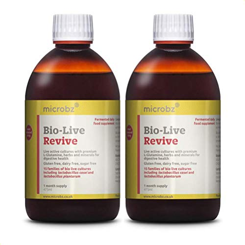 Bio-Live Revive (475ml) Premium Ingredients for Digestive Health - Multi Strain Fermented Liquid Formula with Bio Live Active Natural Cultures for Everyday Oral Use (Twin Pack)