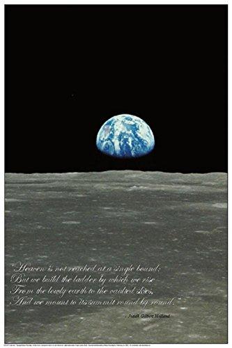 Poster Erdaufgang über Mond, 60x 90cm