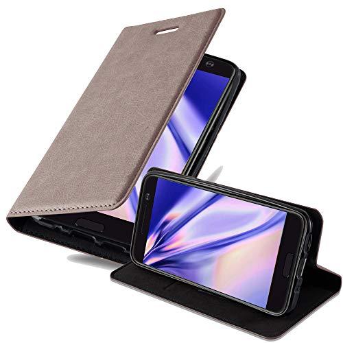 Cadorabo Hülle für HTC 10 (One M10) - Hülle in Kaffee BRAUN – Handyhülle mit Magnetverschluss, Standfunktion & Kartenfach - Hülle Cover Schutzhülle Etui Tasche Book Klapp Style