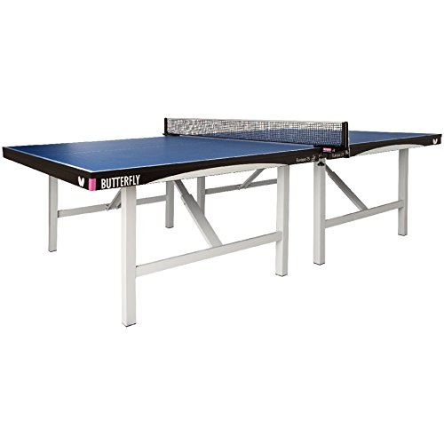 Review Butterfly Europa 25 Table Tennis Table | 1 Inch Thick Top | ITTF Approved for Professional Pi...