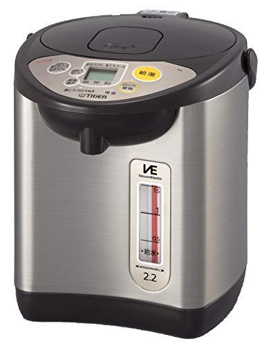 タイガー魔法瓶(TIGER) 電気ポット 省スチーム 節電タイマー VE 保温 とく子さん 2.2L ブラウン PIL-A220-T