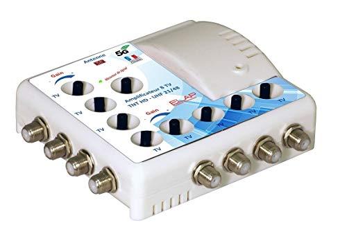High-Tech 372018 Amplificateur TV TNT Intérieur Filtre 4G Blanc