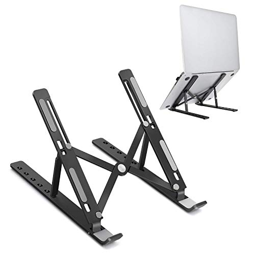JARLINK Vertical Laptop Stand Bundle with Adjustable Laptop Tablet Stand, Foldable Aluminum Desktop Laptop Riser Compatible with All Laptops iPad Tablet (up to 15.6 inches)