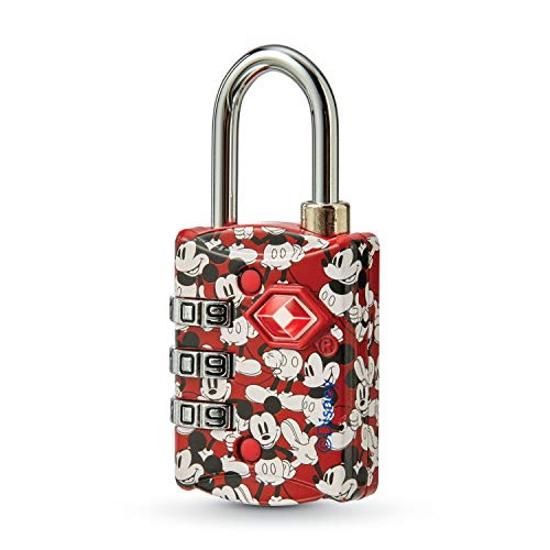 American Tourister Disney TSA 3-Dial Combination Luggage Lock, Mickey Mouse, One Size