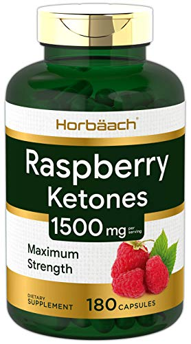 Raspberry Ketones | 1500mg | 180 Capsules | Non-GMO & Gluten Free Pills | by Horbaach