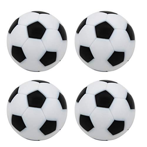 STOBOK 8Pcs Futbolines de Fútbol de Mesa Mini Pelotas de Fútbol de Mesa en Blanco Y Tamaño Reglamentario Futbolín Juegos de Mesa Bolas Oficiales