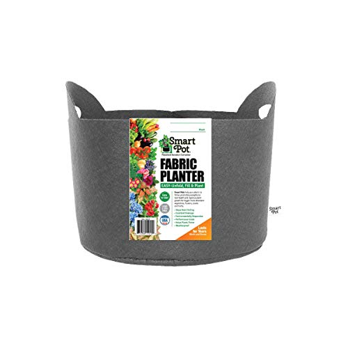 Smart Pots 3-Gallon Smart Pot Soft-Sided Container, Black with Cut handles