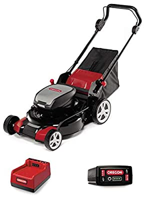 Oregon LM400 Cordless Lawnmower Kit with 6.0 Ah Battery and Rapid Charger