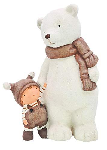 Wichtelstube-Kollektion XXL 37cm Weihnachtsdeko Figuren Eisbär Winter Deko Garten Dekofigur Weihnachten
