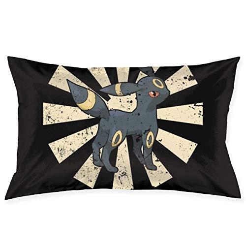xuexiao Funda de almohada de tamaño retro japonés monstruo del bolsillo de 50 x 76 cm para el hogar, cama, habitación, funda de almohada decorativa