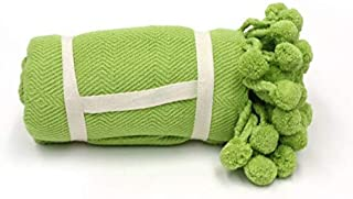 Karma Living Pom Pom Throw - Wild Lime